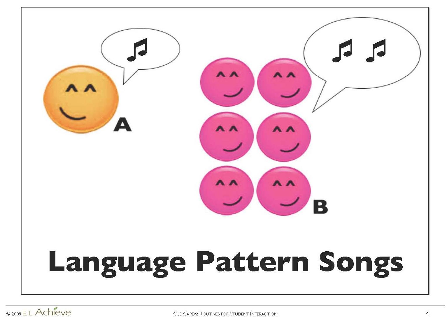 Language Pattern Songs Page4