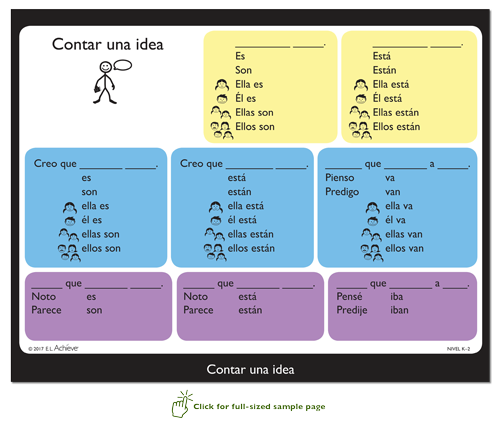 Primary DiscussionCards samplepage Spanish 72